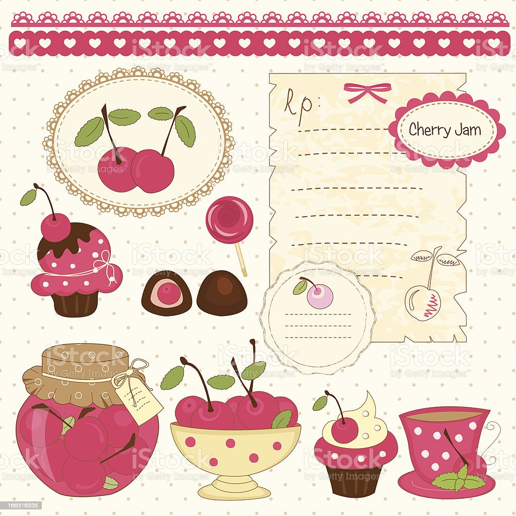 Cherry scrapbook royalty-free stock vector art