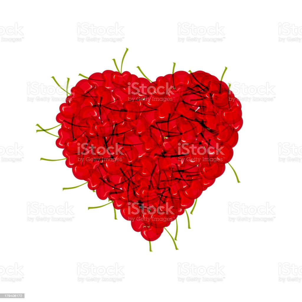 cherry style heart royalty-free stock vector art
