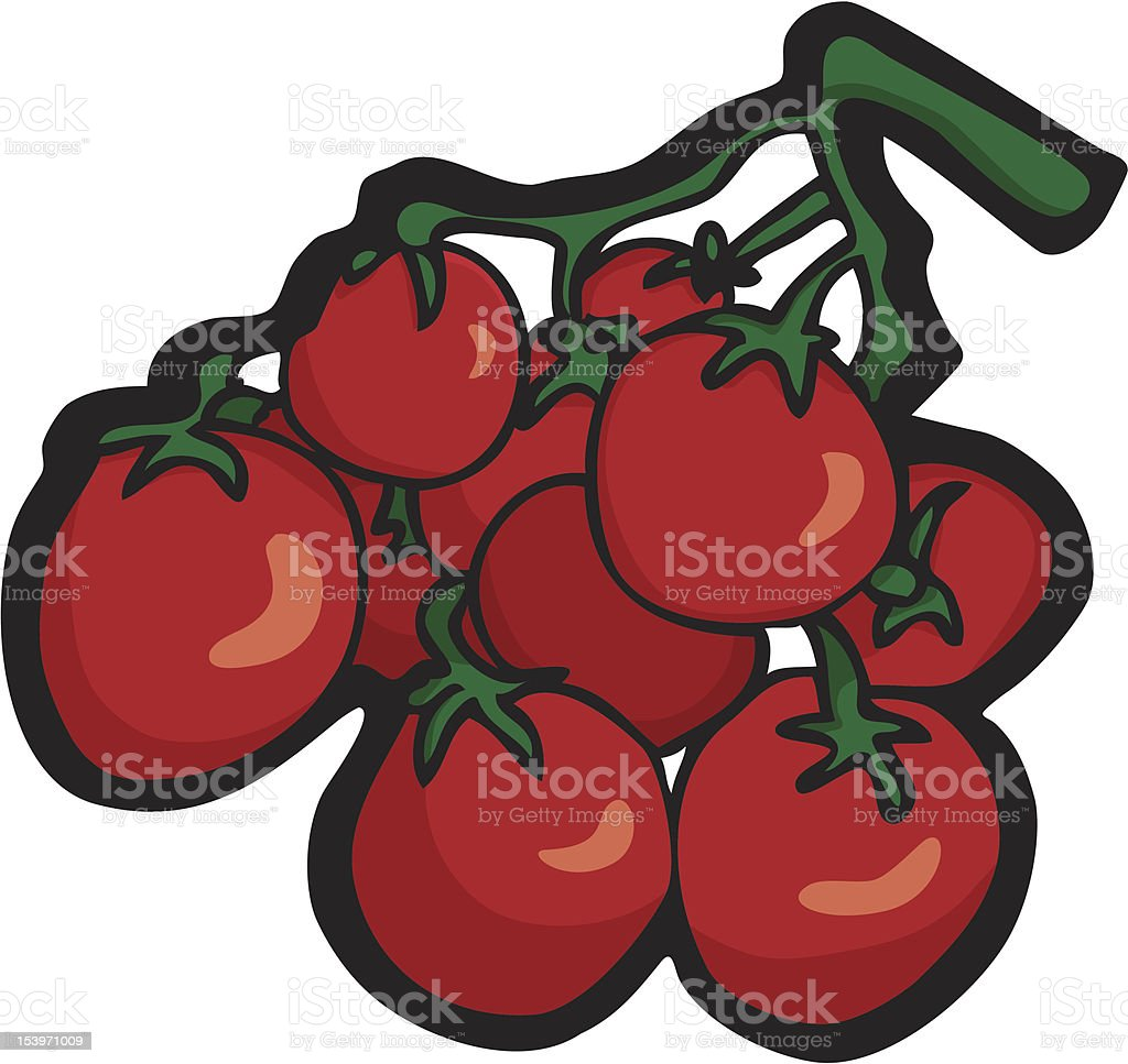 Cherry Tomatoes royalty-free stock vector art