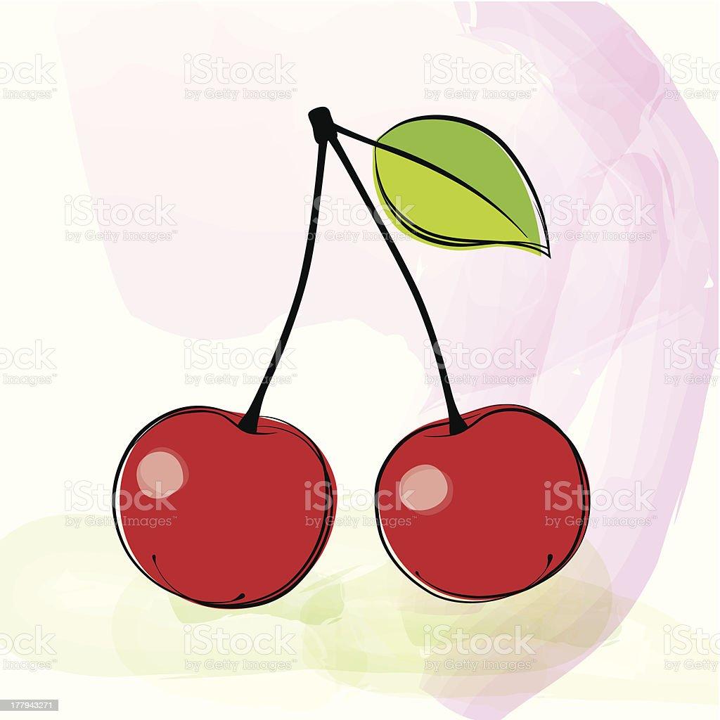 Cherry royalty-free stock vector art