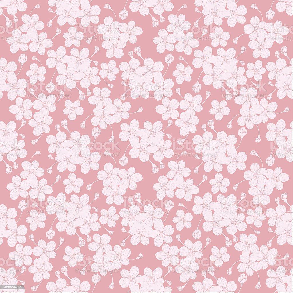 CherryBlossom_background02 vector art illustration