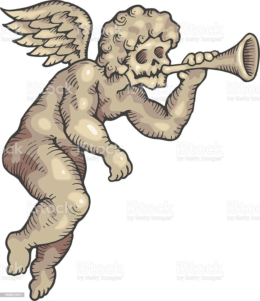 Cherub Of Doom vector art illustration