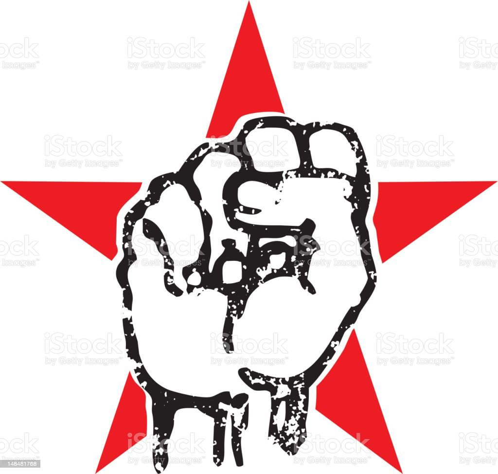 ches grunge fist royalty-free stock vector art