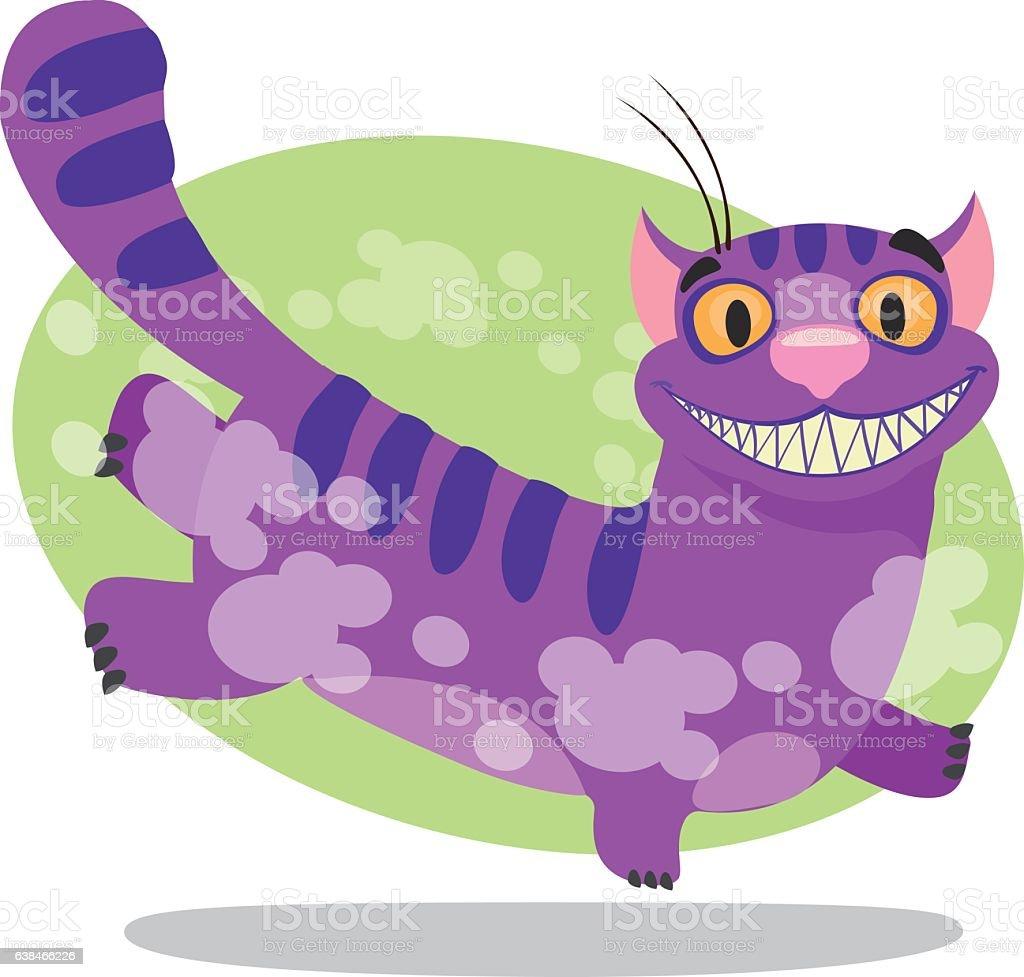 Cheshire Cat. Alice's Adventures in Wonderland. vector art illustration