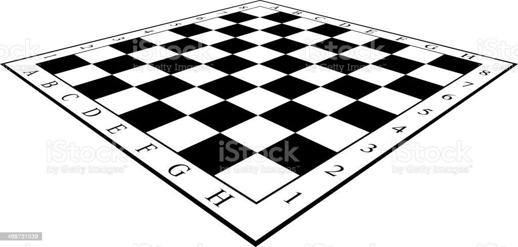 Chess Board vector art illustration