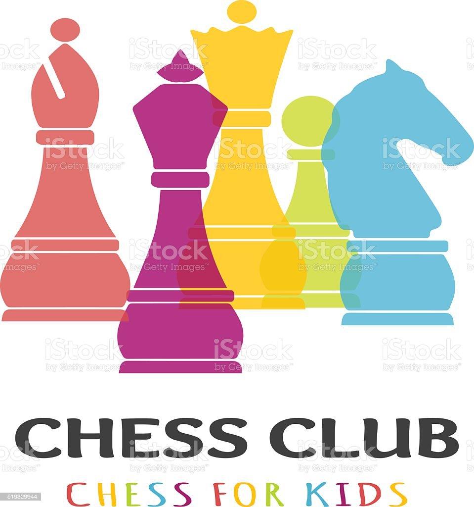 Chess business sign vector art illustration
