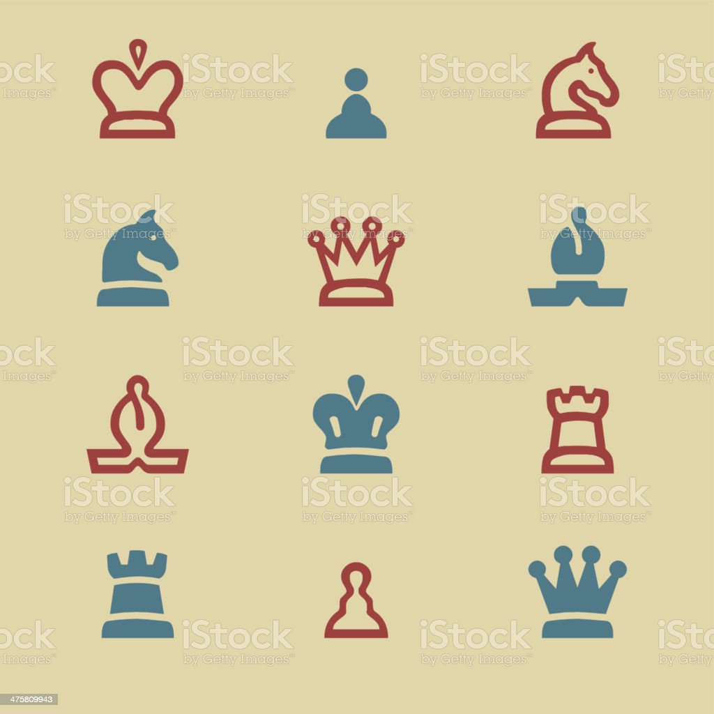 Chess color harmony Icons vector art illustration
