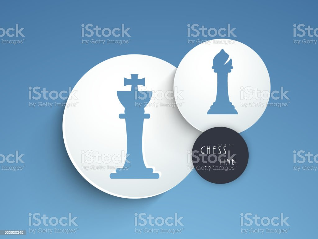 Chess concept with its figures. vector art illustration
