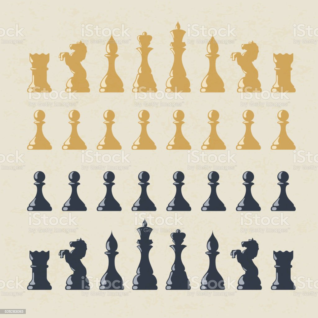 Chess figures set. Vector, EPS10 vector art illustration