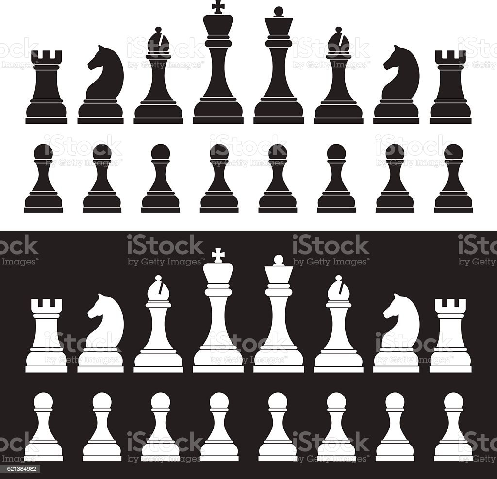 Chess figures. vector art illustration