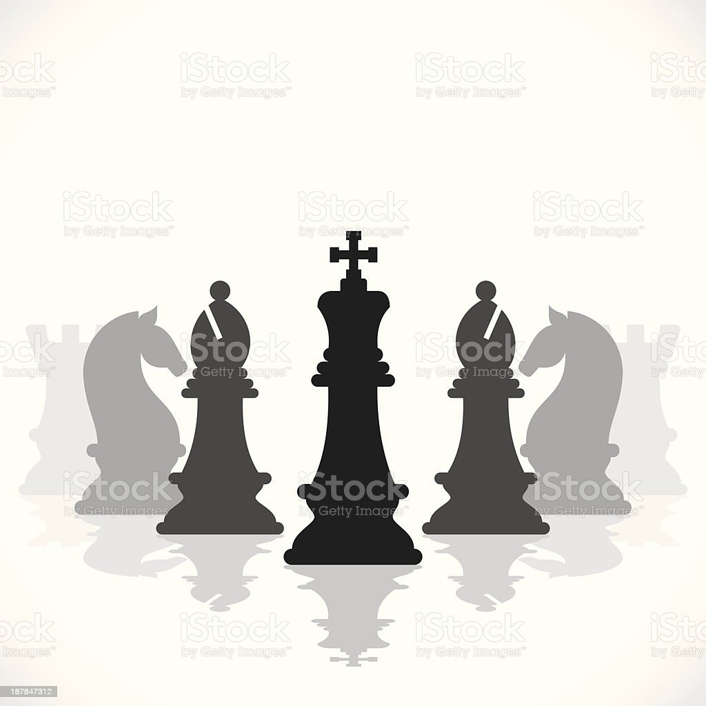 chess game vector art illustration