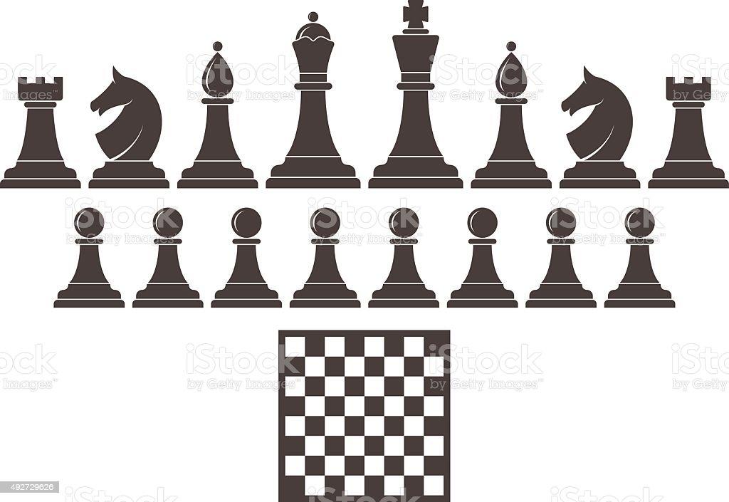 Chess. Icon set vector art illustration
