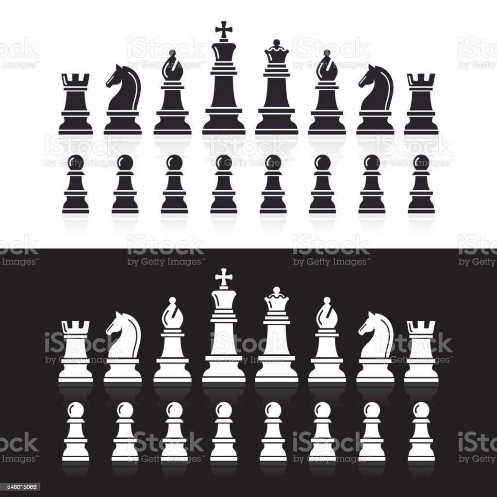 Chess icons. vector art illustration
