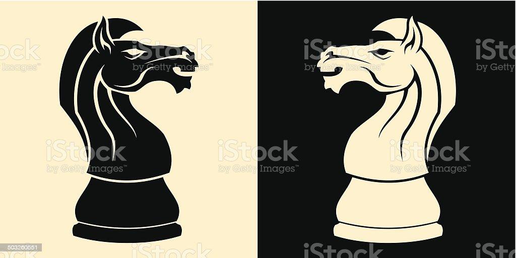 chess knight vector art illustration