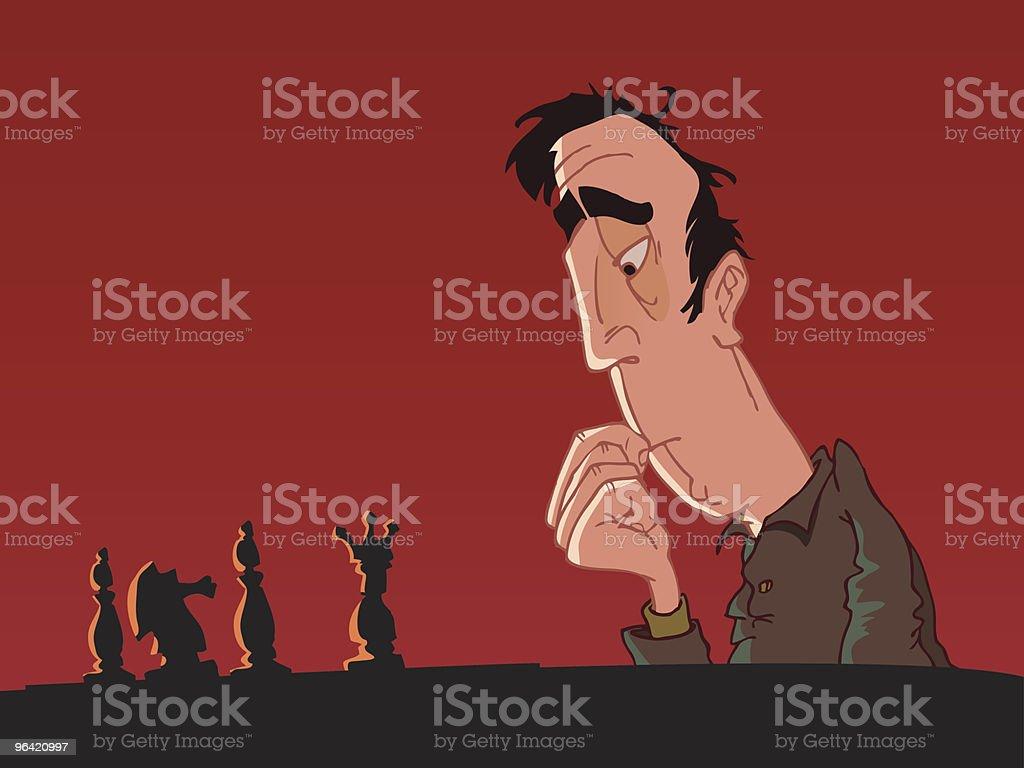 Chess Master royalty-free stock vector art