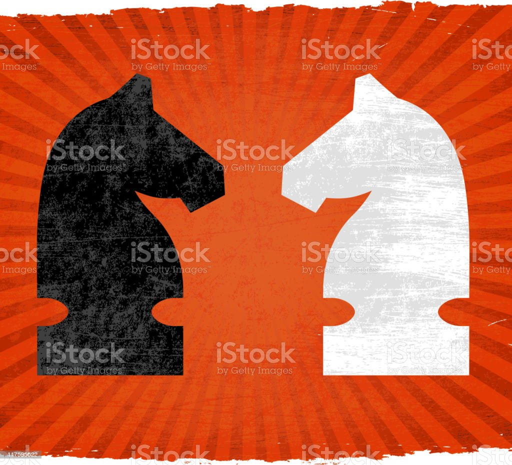 chess match on royalty free vector Background vector art illustration