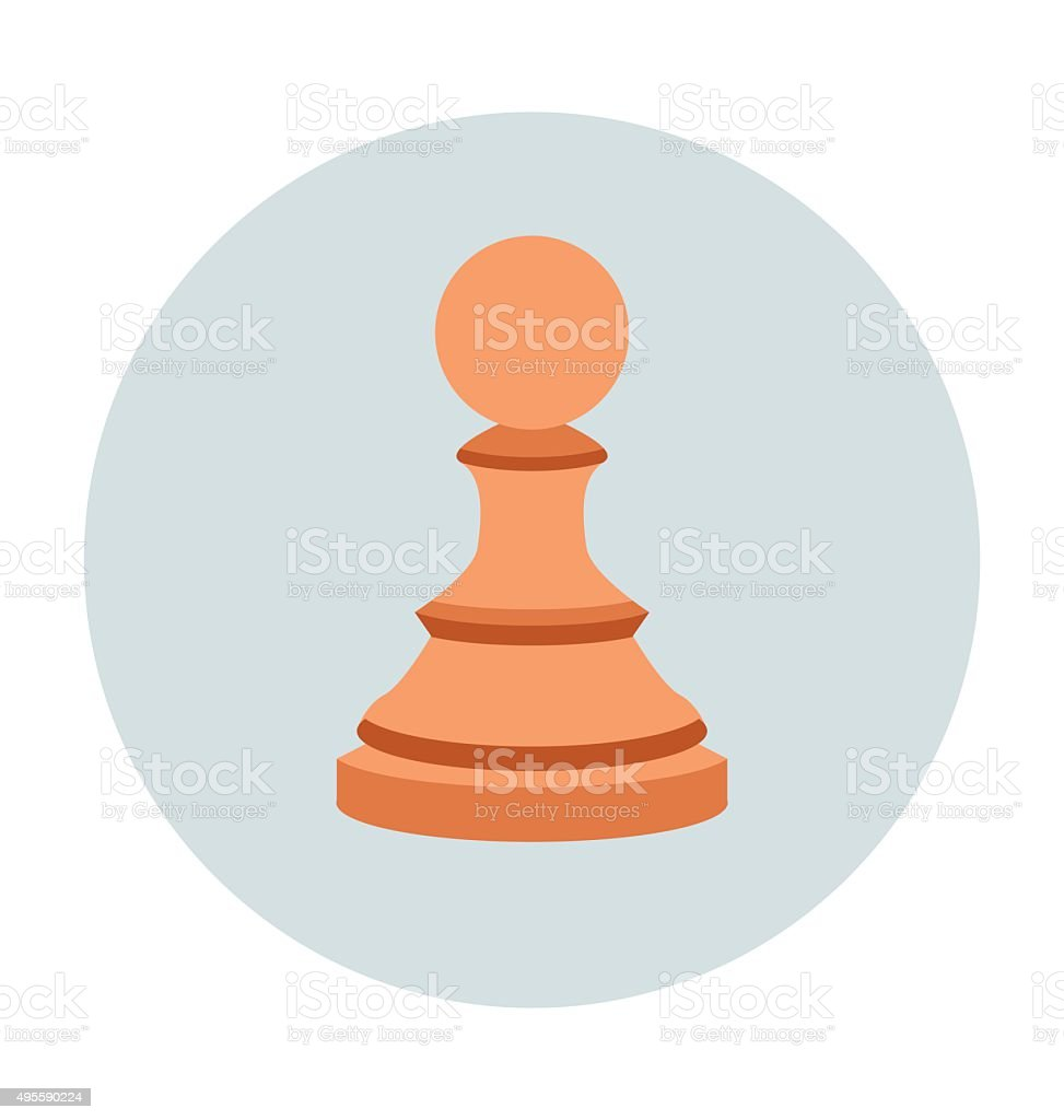 Chess Pawn Colored Vector Icon vector art illustration