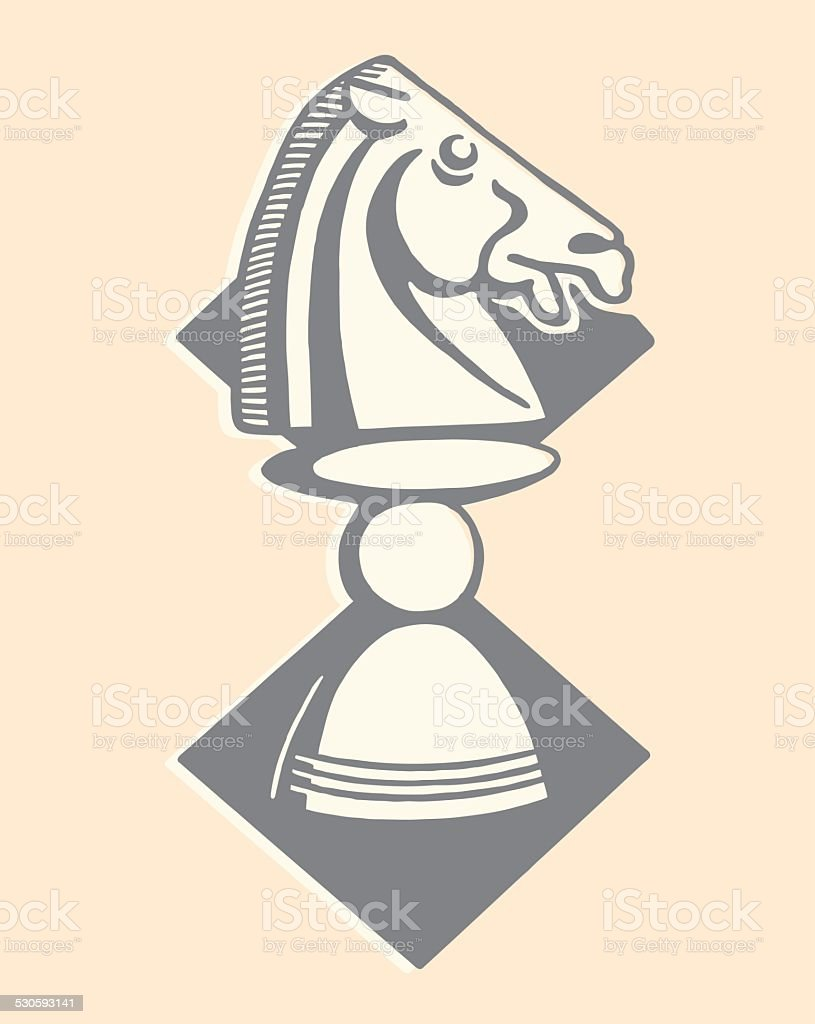 Chess Piece vector art illustration