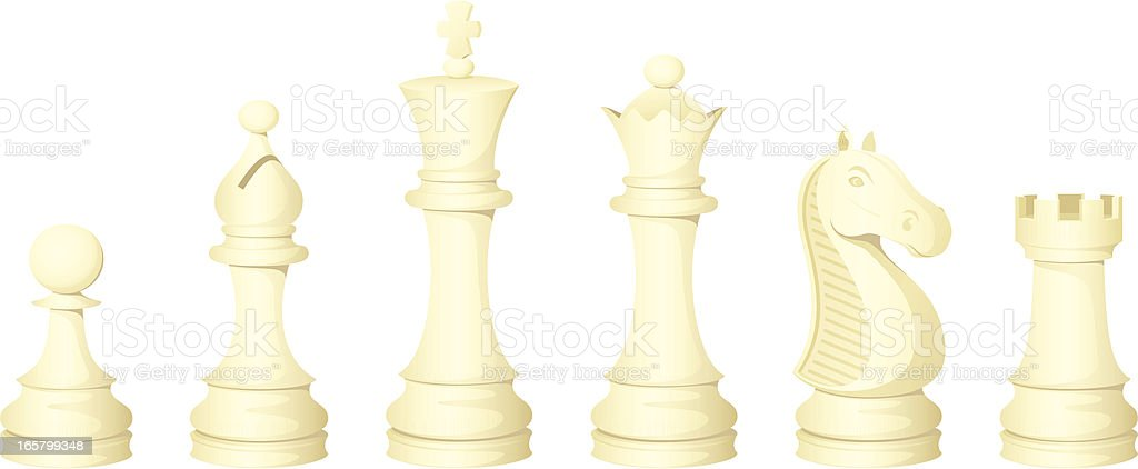 Chess Pieces (white) royalty-free stock vector art