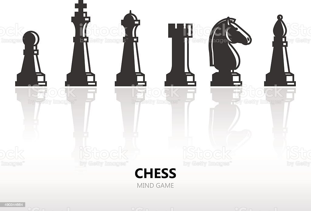 Chess pieces vector art illustration