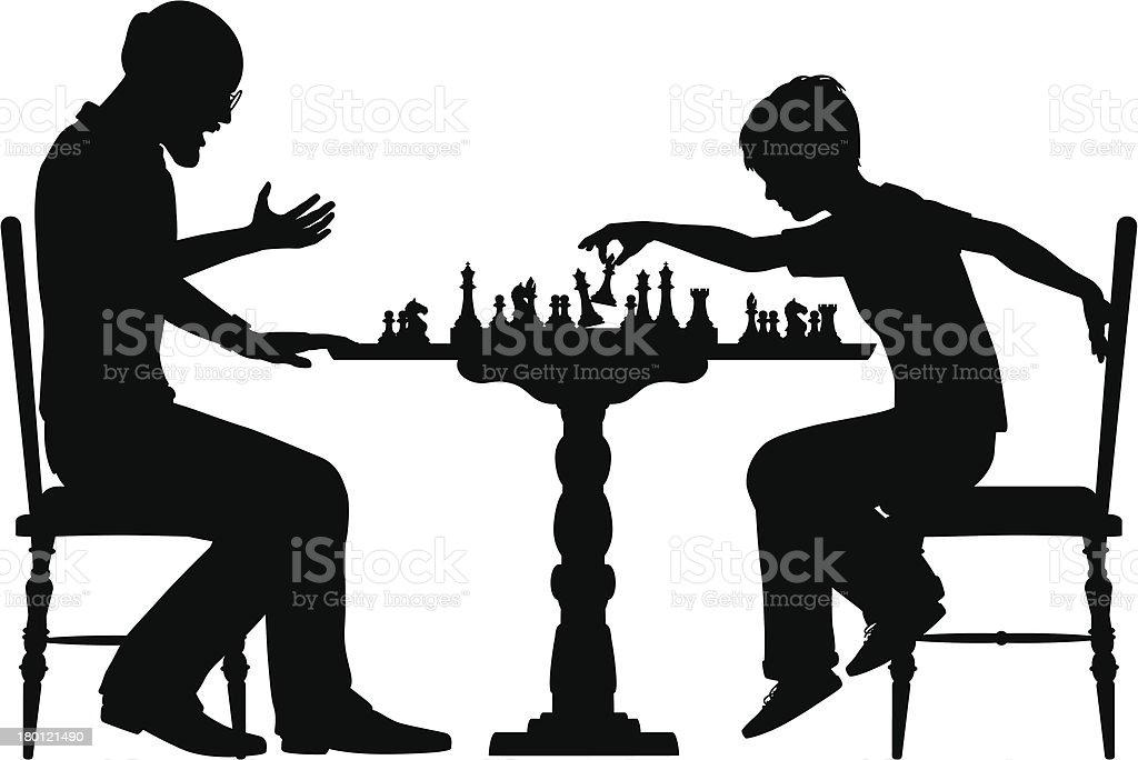 Chess prodigy vector art illustration
