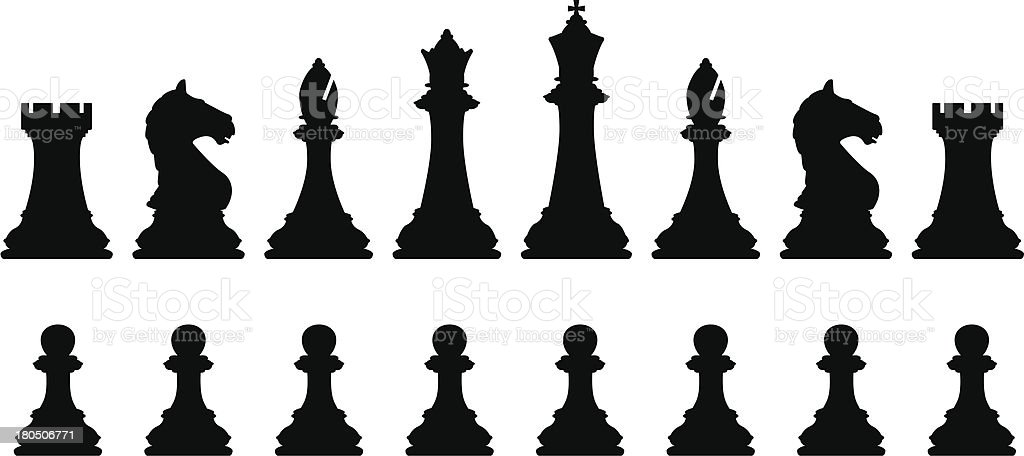 Chess set vector art illustration