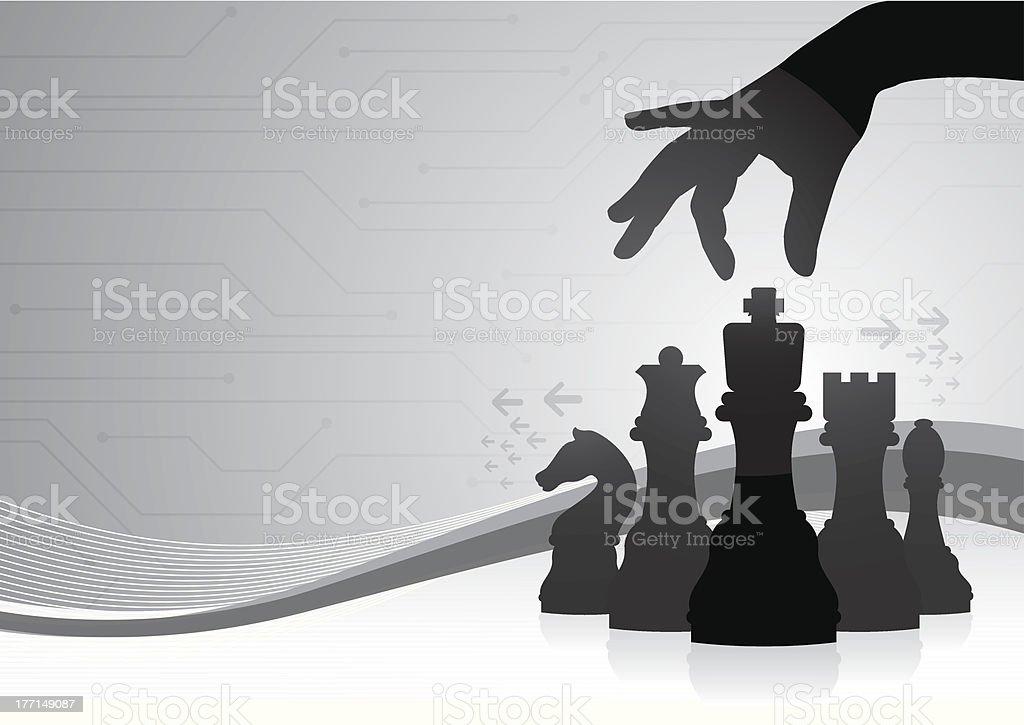 Chess strategy vector art illustration
