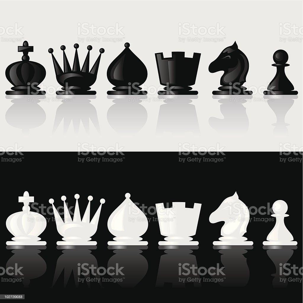chessmen vector art illustration