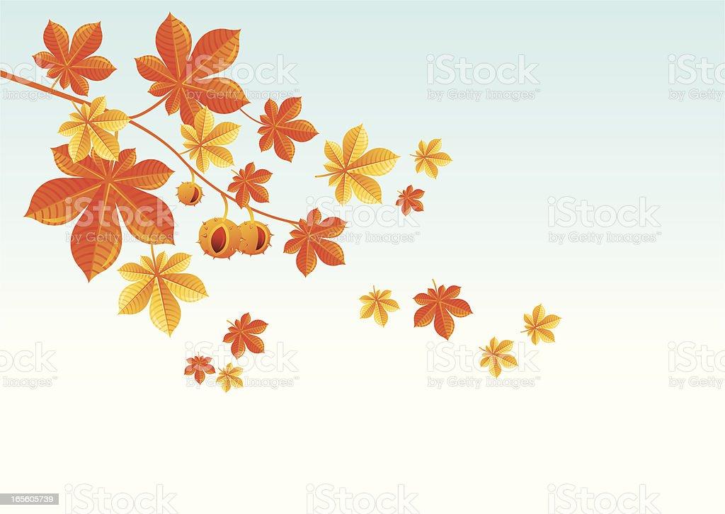 Chestnut branch royalty-free stock vector art