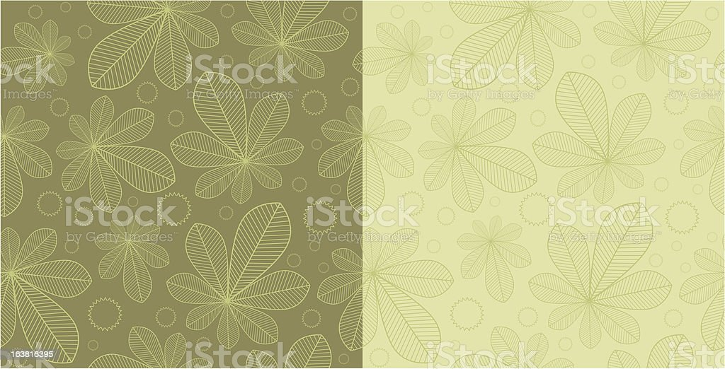Chestnut seamless background patterns royalty-free stock vector art