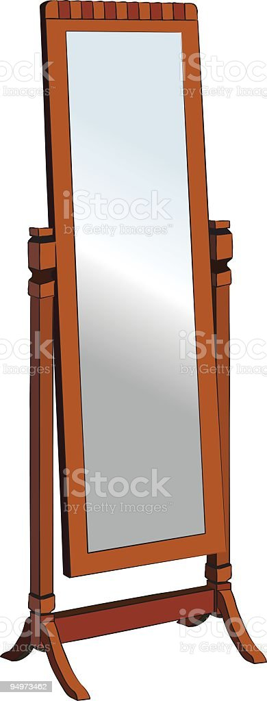 Cheval Mirror royalty-free stock vector art