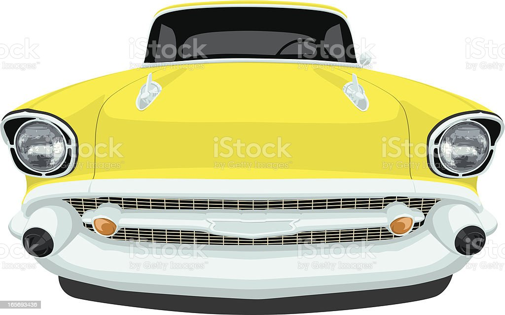 Chevrolet 1957 Bel Air - Front View vector art illustration
