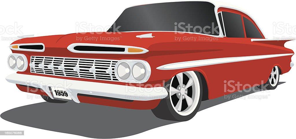 Chevrolet - 1959 Impala vector art illustration