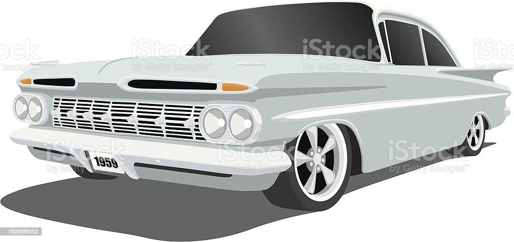Chevrolet Impala 1959 vector art illustration