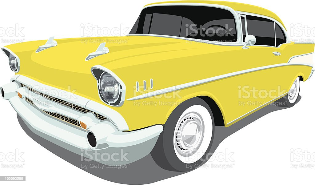 Chevrolet1957 Bel Air - Angle View vector art illustration