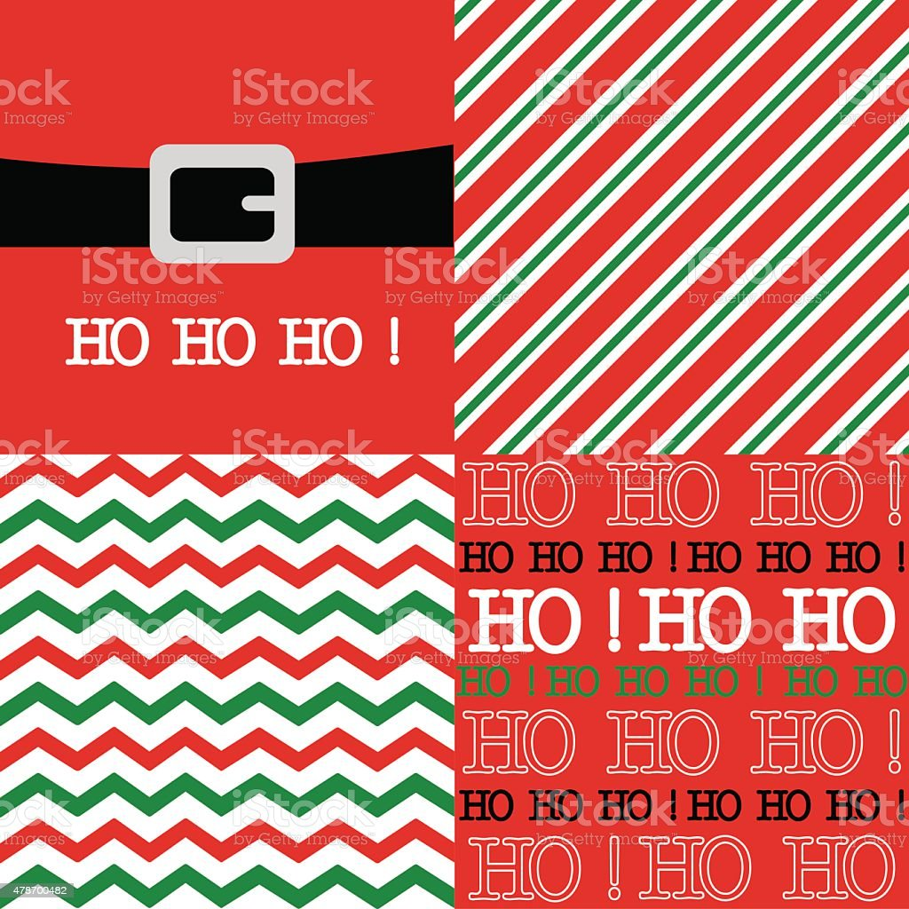 Chevron and stripes with Santa belt illustration design vector art illustration
