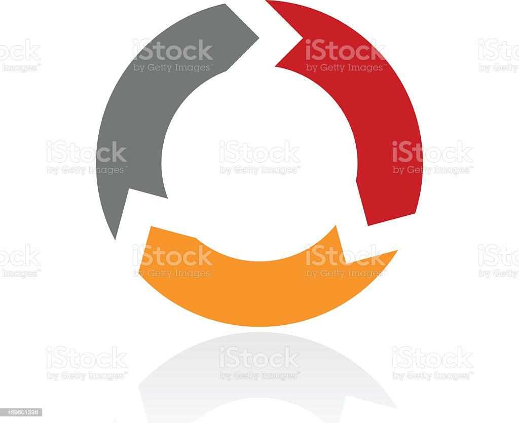 Chevron Chart icon on a white background. - Pro Series vector art illustration