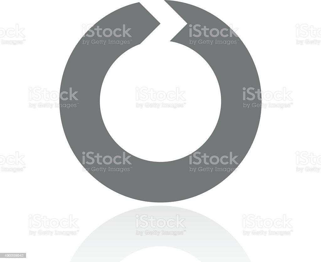 Chevron Chart icon on a white background. - ProSeries vector art illustration