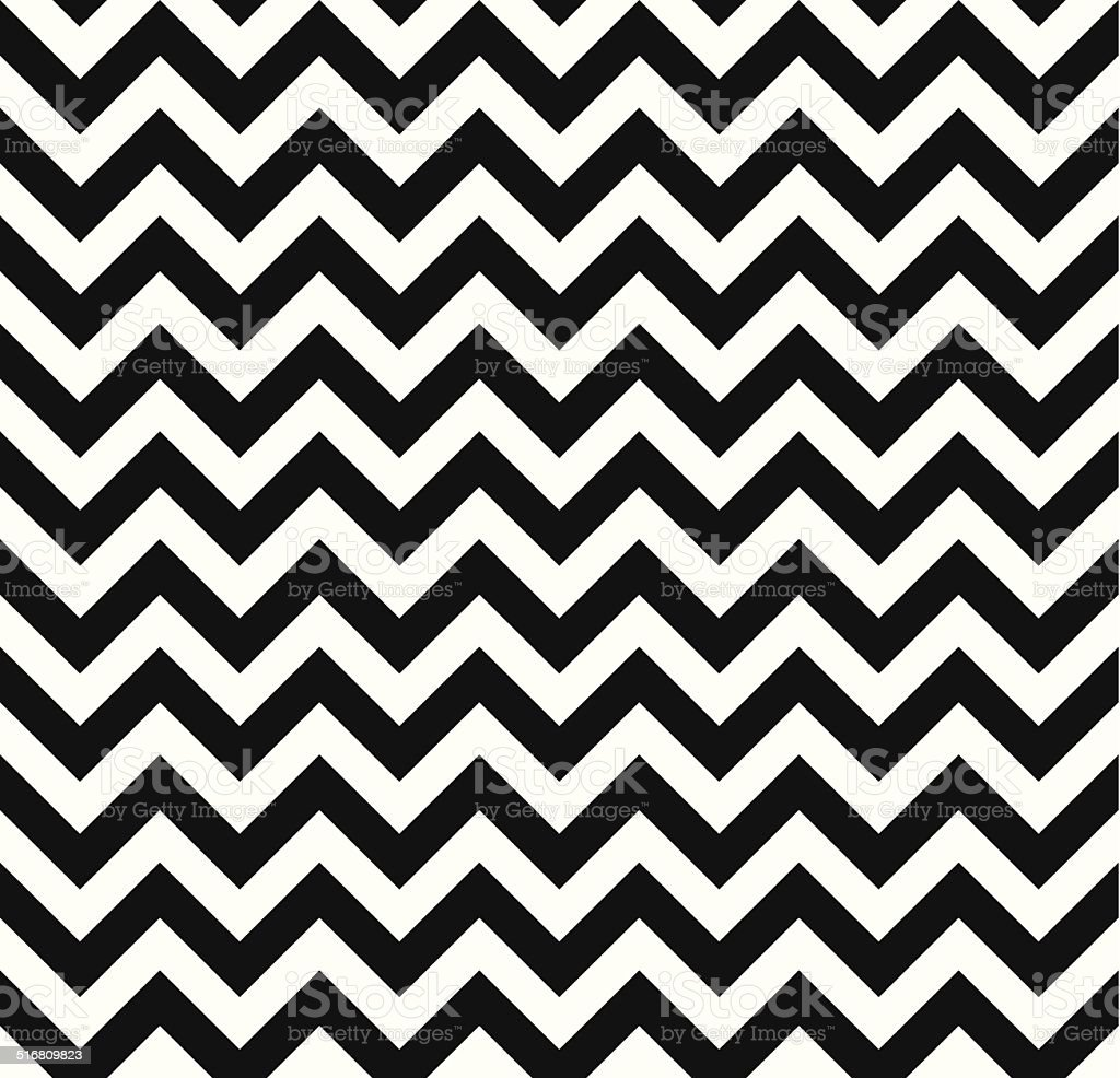 Chevron Zigzag monochrome seamless texture vector art illustration