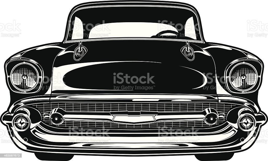 Chevy Bel Air 1956 vector art illustration