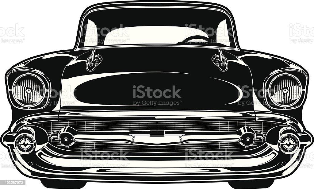 Chevy Bel Air 1956 vector art illustration