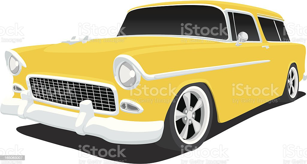Chevy Nomad royalty-free stock vector art