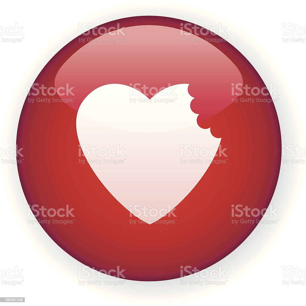 Chewed heart. vector art illustration