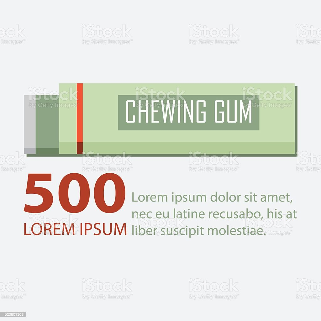 Chewing gum in flat design. Vector. vector art illustration