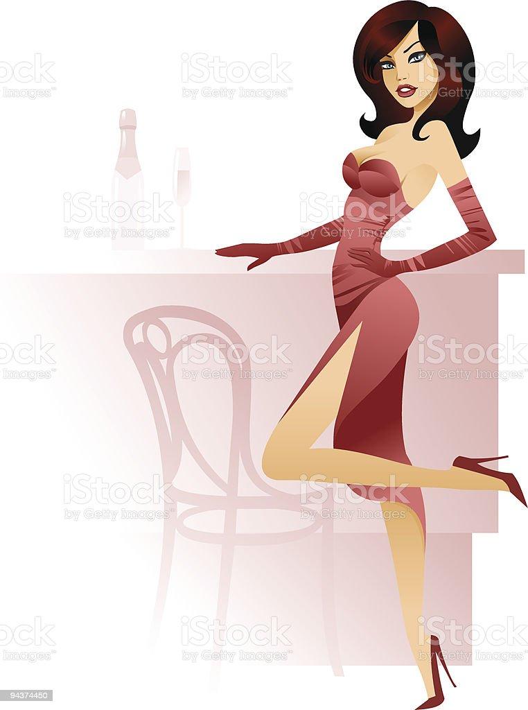 Chic girl royalty-free stock vector art