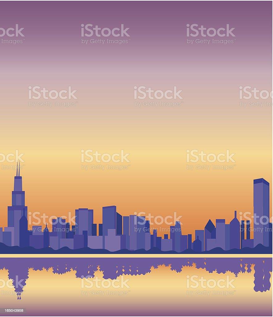 Chicago skyline royalty-free stock vector art