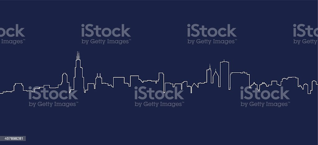 Chicago Skyline vector art illustration