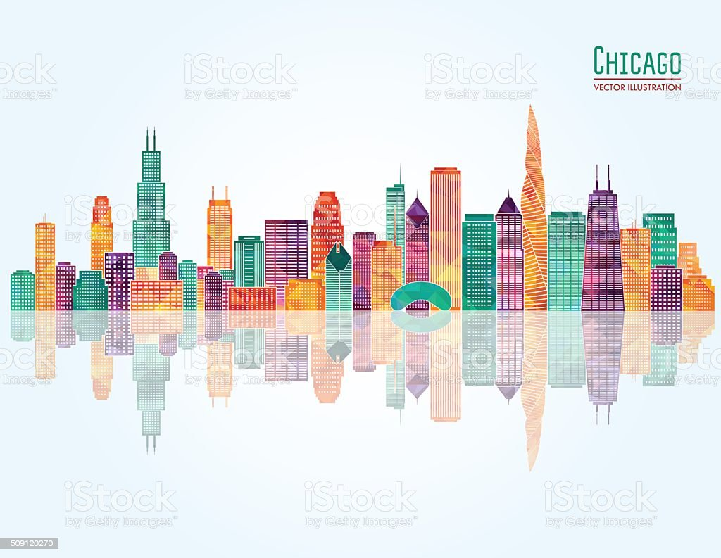Chicago skyline. Vector illustration vector art illustration
