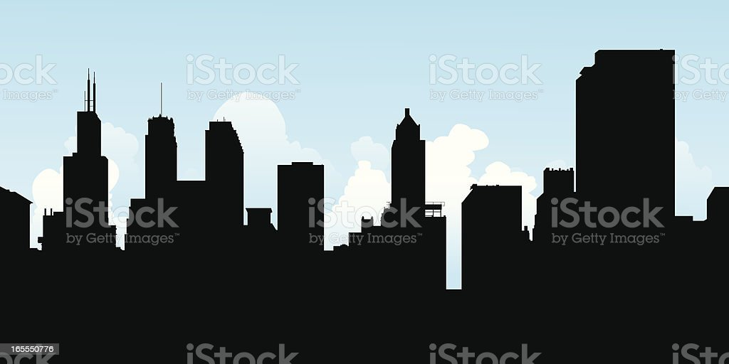 Chicago Towers royalty-free stock vector art