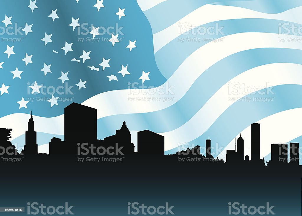 Chicago, USA vector art illustration